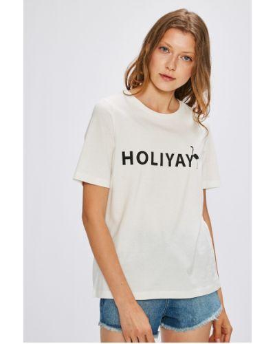 Белая футболка прямая Vero Moda