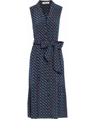 Шелковое платье - зеленое Diane Von Furstenberg