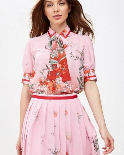 Блузка с коротким рукавом розовая турецкий Lusio