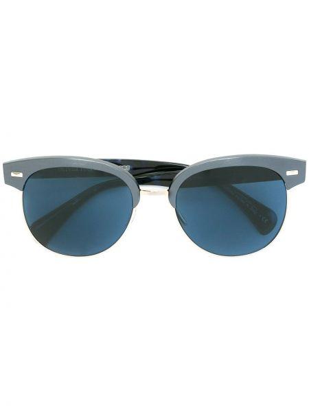 Солнцезащитные очки металлические - синие Oliver Peoples