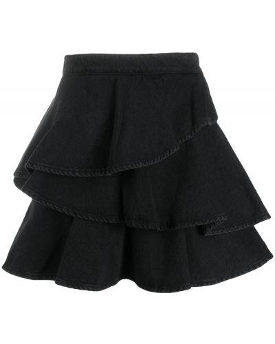 Юбка мини короткая - черная Gaelle Bonheur
