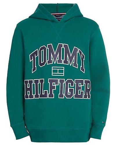 Prążkowany pulower bawełniany z długimi rękawami Tommy Hilfiger