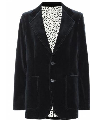Пиджак бархатный синий Joseph