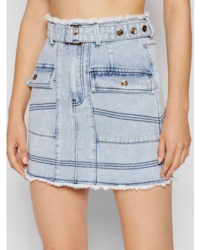 Niebieska spódnica jeansowa Ixiah