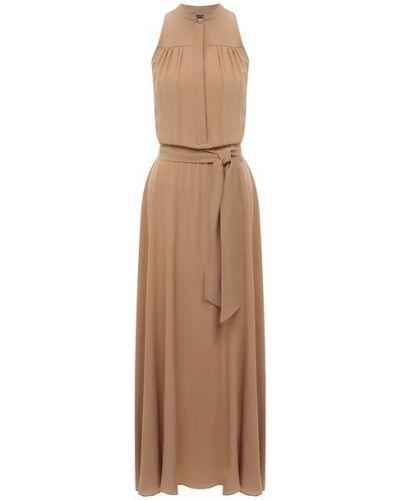 Шелковое платье - бежевое Kiton