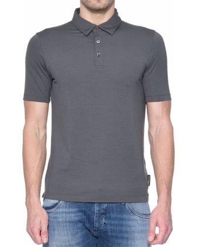Поло серый Emporio Armani