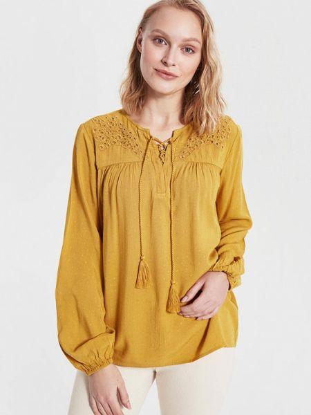 Блузка с длинным рукавом весенний желтый Lc Waikiki