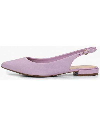 Туфли с открытой пяткой из нубука Arezzo