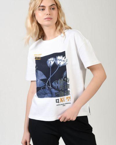Белая хлопковая футболка Hugo