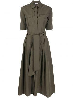 С рукавами зеленое платье-рубашка для полных Antonelli