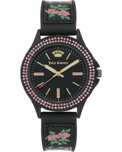 Czarny zegarek mechaniczny silikon kwarc Juicy Couture