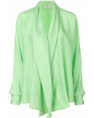Драповая блузка с длинным рукавом с драпировкой винтажная Versus Pre-owned