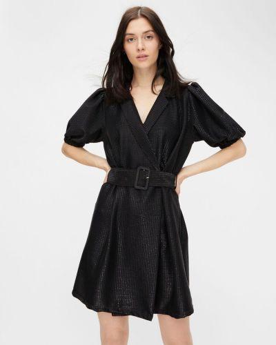 Трикотажное платье - черное Pieces