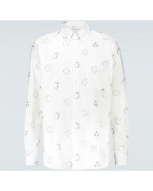 Koszula klasyczna z kołnierzem z haftem Thom Browne