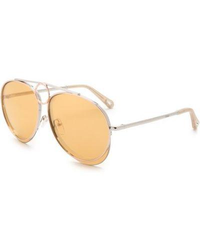 Оранжевые солнцезащитные очки Chloé