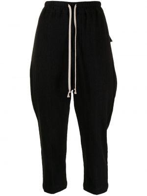 Spodnie bawełniane - czarne Rick Owens