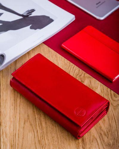 Кожаный кошелек - красный Betlewski