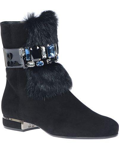 Кожаные ботинки осенние замшевые Loriblu