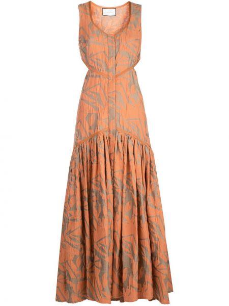 Платье на пуговицах с V-образным вырезом Alexis