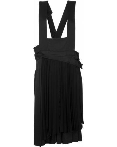Шерстяное черное платье на бретелях винтажное Comme Des Garçons Pre-owned