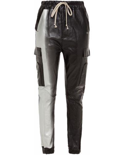 Czarne spodnie skorzane Rick Owens