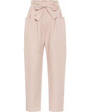 Классические брюки розовый стрейч Redvalentino