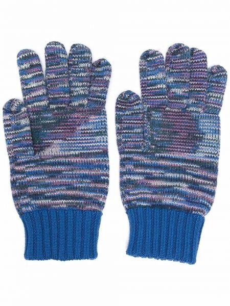 Rękawiczki wełniane - niebieskie Missoni