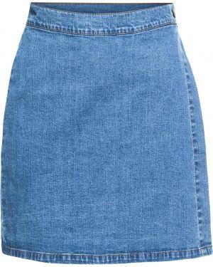 Юбка мини джинсовая с запахом Bonprix
