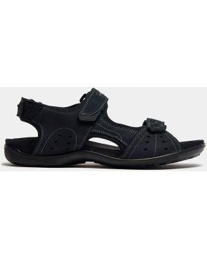 Трекинговые синие кожаные сандалии на липучках Ralf Ringer