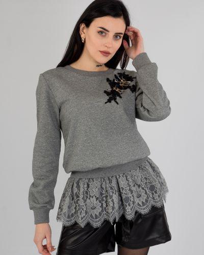 Хлопковый свитшот - серый Rosa Shock
