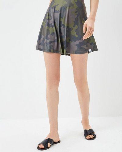 Зеленая юбка свободного кроя Colour Pleasure