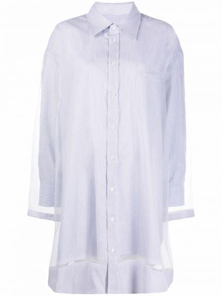 Платье макси с длинными рукавами - серое Maison Margiela