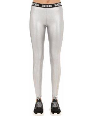 Legginsy peep toe srebrne Moschino Underwear