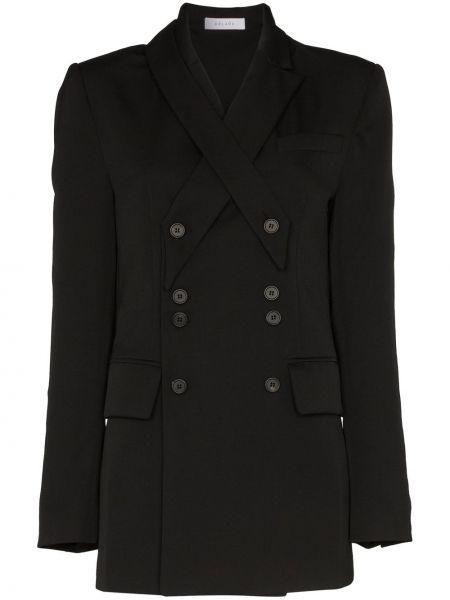 Черный пиджак с манжетами Delada