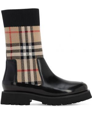 Buty skórzany Burberry