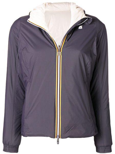 Прямая куртка с капюшоном мятная узкого кроя K-way