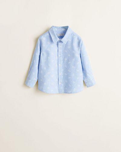 Рубашка хлопковая на пуговицах Mango Kids