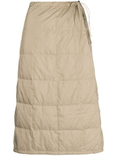 Нейлоновая прямая юбка миди винтажная с перьями Issey Miyake Pre-owned