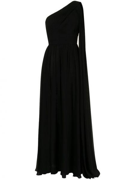 Шелковое платье - черное Elie Saab