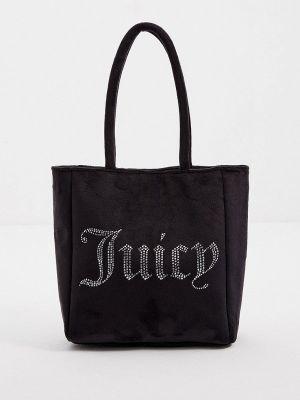 Черная бархатная сумка Juicy Couture