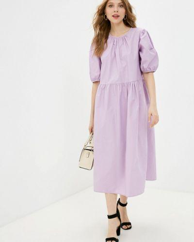 Фиолетовое прямое платье А-силуэта Incity