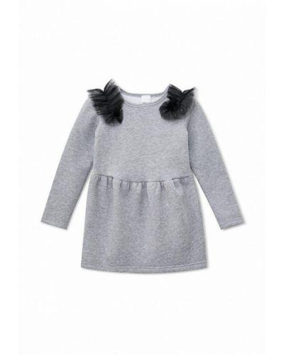 Повседневное серое платье Kids Couture