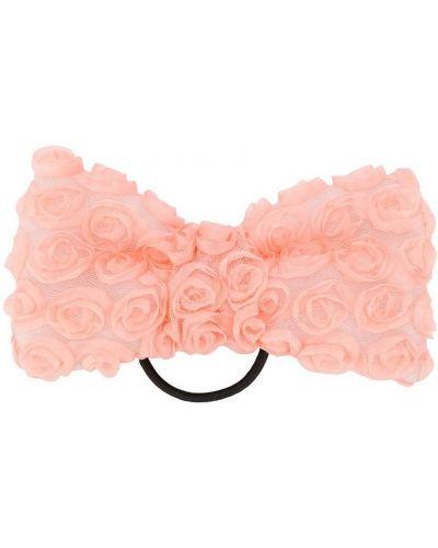 Розовая резинка для волос на резинке с бабочкой Wauw Capow