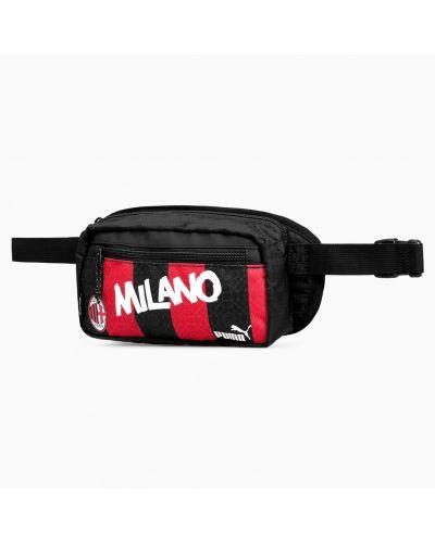 Футбольный черный ремень с надписью с карманами Puma