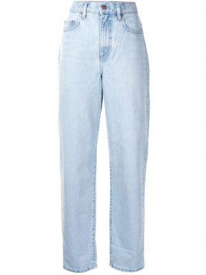 Хлопковые синие с завышенной талией джинсы бойфренды Nobody Denim