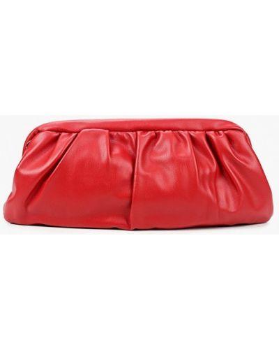 Красный кожаный клатч Vitacci