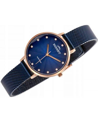 Klasyczny złoty zegarek z cyrkoniami Bisset