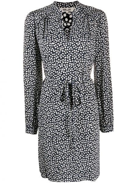 Черное шелковое платье макси с длинными рукавами Dvf Diane Von Furstenberg