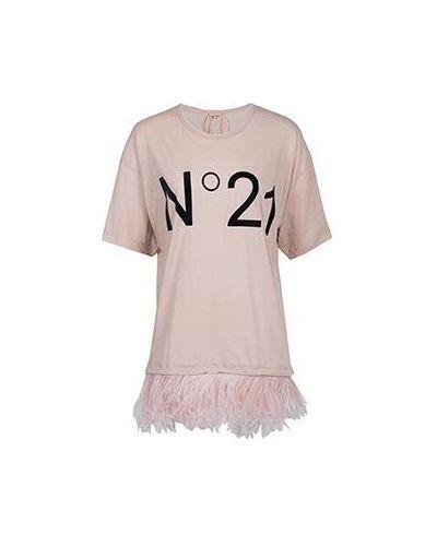 Хлопковая футболка - розовая No.21