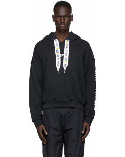 Czarna bluza długa z kapturem z długimi rękawami Reebok By Pyer Moss